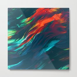 fly away, dramatic colors light the way Metal Print
