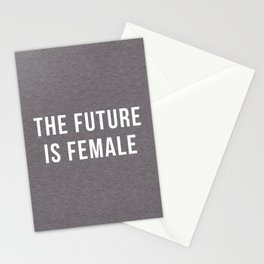 Future Is Female Quote Stationery Cards