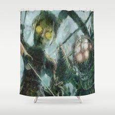 Bioshock Big Daddy & Little Girl Shower Curtain