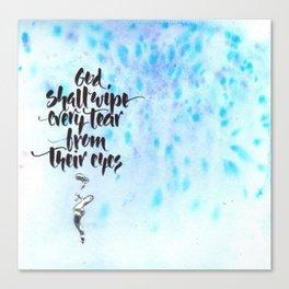 God Shall Wipe Every Tear Canvas Print