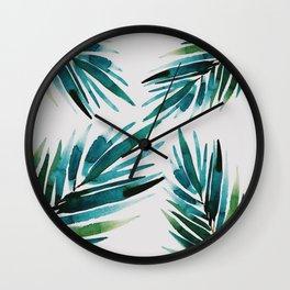 Dark Palm trees Wall Clock