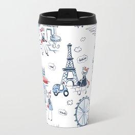 Fashion cats pattern Travel Mug