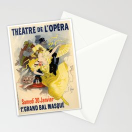 Belle Epoque vintage poster, French Theater, Theatre de L'Opera Stationery Cards