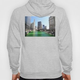 Chicago River Green for St. Patrick's Day Hoody