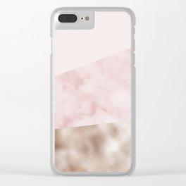 Urban blush marble geo Clear iPhone Case