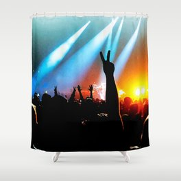 Vibe in the Pit Shower Curtain