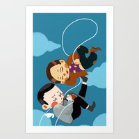 inception Art Prints featuring inception by Saalk