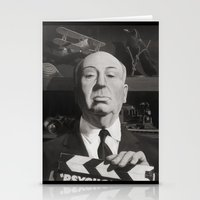 hitchcock Stationery Cards featuring Hitchcock by Zach Schoenbaum