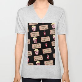 Let's Go to the Movie theatre Unisex V-Neck