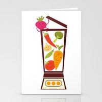 vegetable Stationery Cards featuring Vegetable smoothie by olillia