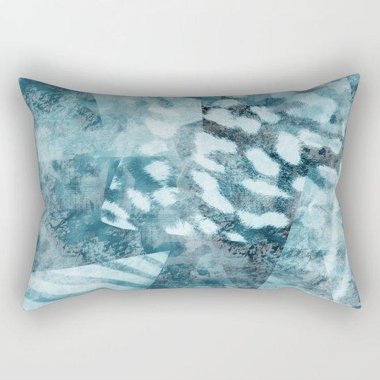 Blue safari Rectangular Pillow