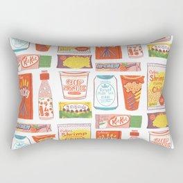 Asian Snacks Rectangular Pillow
