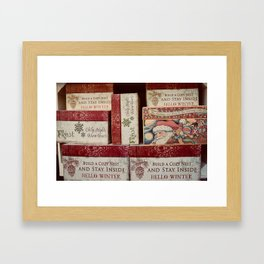 Christmas design with gift boxes Framed Art Print