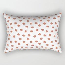 Copper Polka Dots Rectangular Pillow