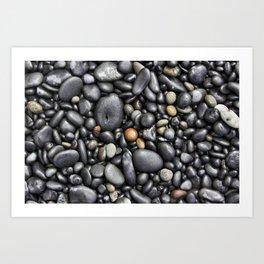 Blacksand Beach Rocks Art Print