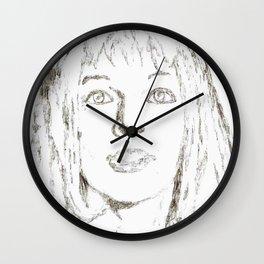 Leeloo Fifth Element sketch- Milla Jovovich Wall Clock