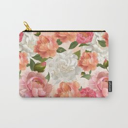 Peony Flowers Pattern Carry-All Pouch
