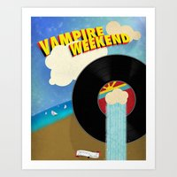 vampire weekend Art Prints featuring Vampire Weekend - Chicago by Luke Eckstein