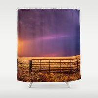western Shower Curtains featuring Western Front by Sean Ramsey