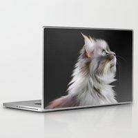 maine Laptop & iPad Skins featuring Maine Coon by Julie Hoddinott