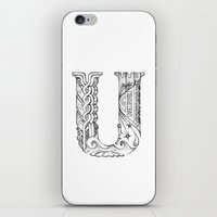 U letter iPhone & iPod Skin