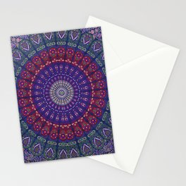 Blue Mandala Hippie Design Stationery Cards