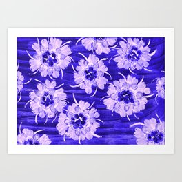 Blue Aspen Rose Art Print