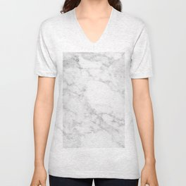 White Marble Edition 2 Unisex V-Neck