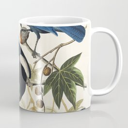 Yellow-Billed Magpie Stellers Jay Ultramarine Jay and Clarks Crow from Birds of America (1827) by Jo Coffee Mug