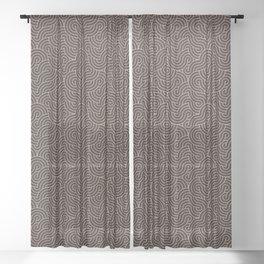 SWIRL / Coffee Sheer Curtain