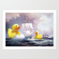 thegnarledbranch Art Prints featuring Terror on the High Seas II by TheGnarledBranch