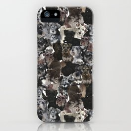 Schnauzer Collage Realistic iPhone Case