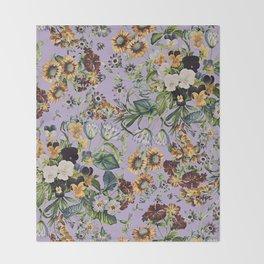 Romantic Garden VIII Throw Blanket