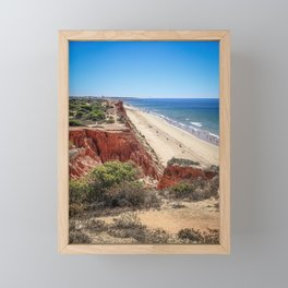 Portugal, Algarve, Beach Falesia Framed Mini Art Print