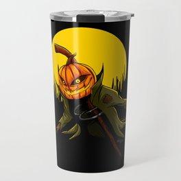Pumpkin scarecrow Travel Mug