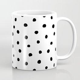 Polka Dot White Background Coffee Mug