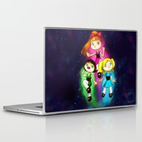 powerpuff girls Laptop & iPad Skins featuring Powerpuff girls by Lyxy