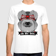 Oh My Dog Mens Fitted Tee SMALL White
