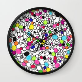 Circles and Other Shapes and colors Wall Clock
