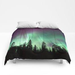 Colorful Northern Lights, Aurora Borealis Comforters