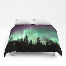 Colorful Northern Lights, Aurora Borealis Comforters