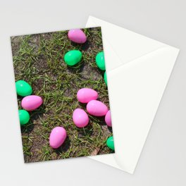 Pink And Green Eggs Stationery Cards