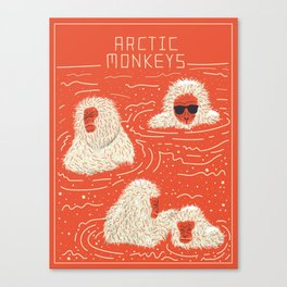 Actual Arctic Snow Monkeys Canvas Print