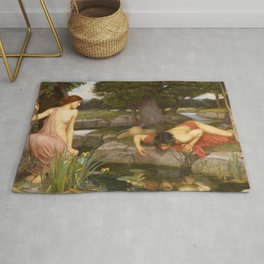 John William Waterhouse - Echo and Narcissus Rug