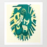 Art Print featuring Hunting Hug by SurrenderSodas