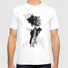 LADY BIRD SMALL White Mens Fitted Tee