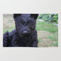 puppy Area & Throw Rugs featuring Puppy. by Wild Meadow