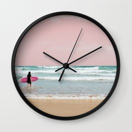 Surfer Heads Out III Wall Clock