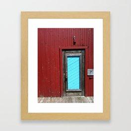 Amish Restaurant Barn Door Framed Art Print