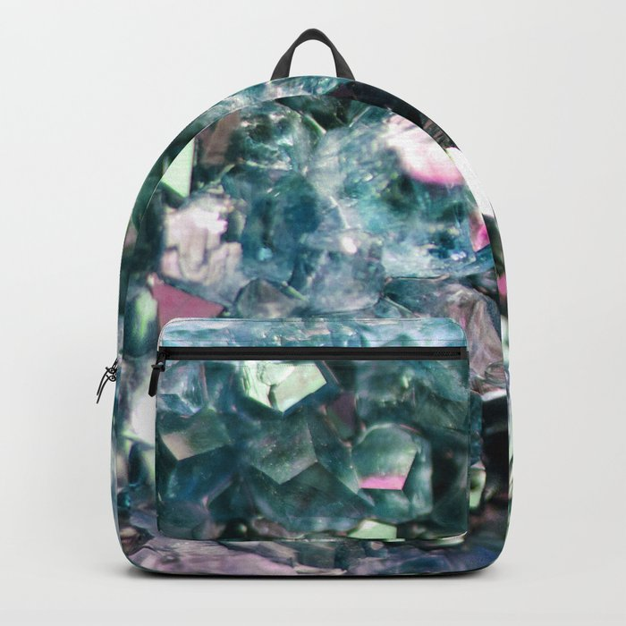 Geode Crystal Turquoise Pink Quartz Backpack